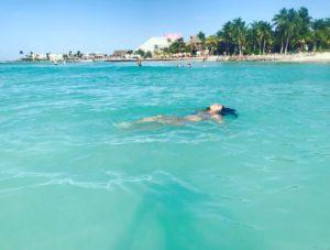 la alberca natural de Playa Norte Isla Mujeres