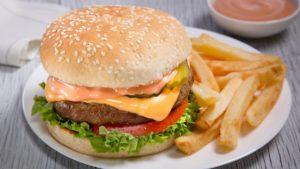 hamburguesa en holbox